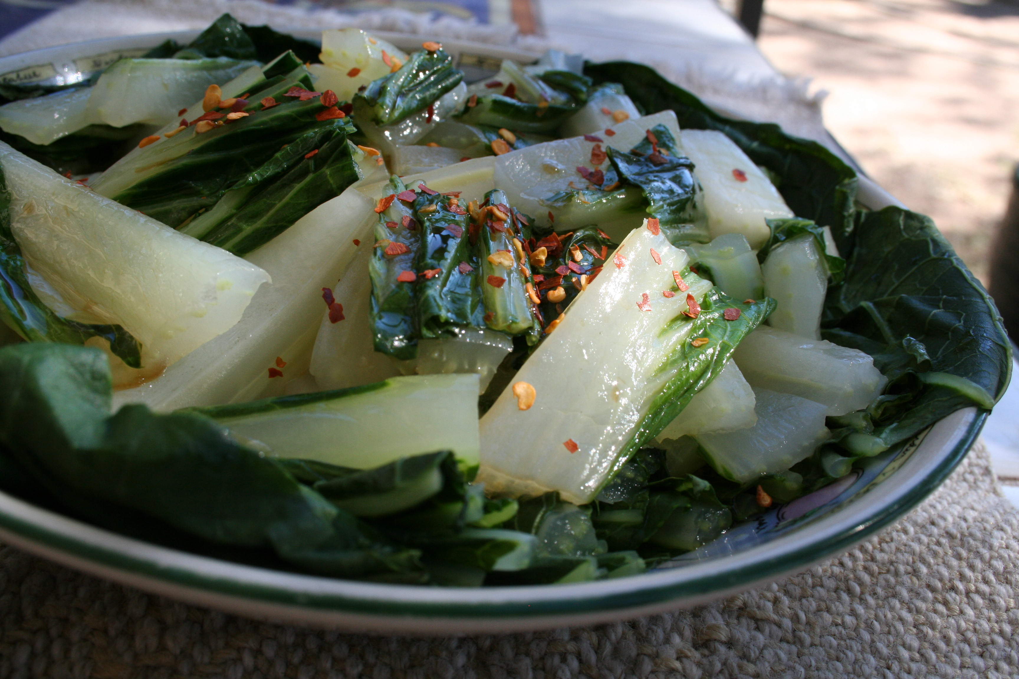 Bok Choy with Asian Dressing