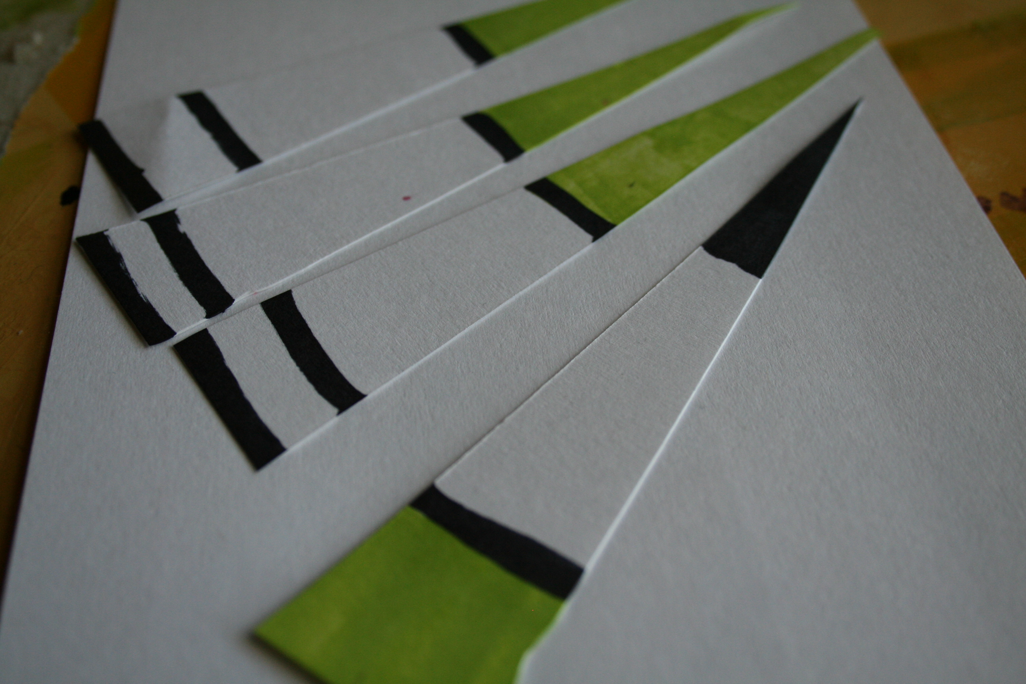 Paper with lines in different colors