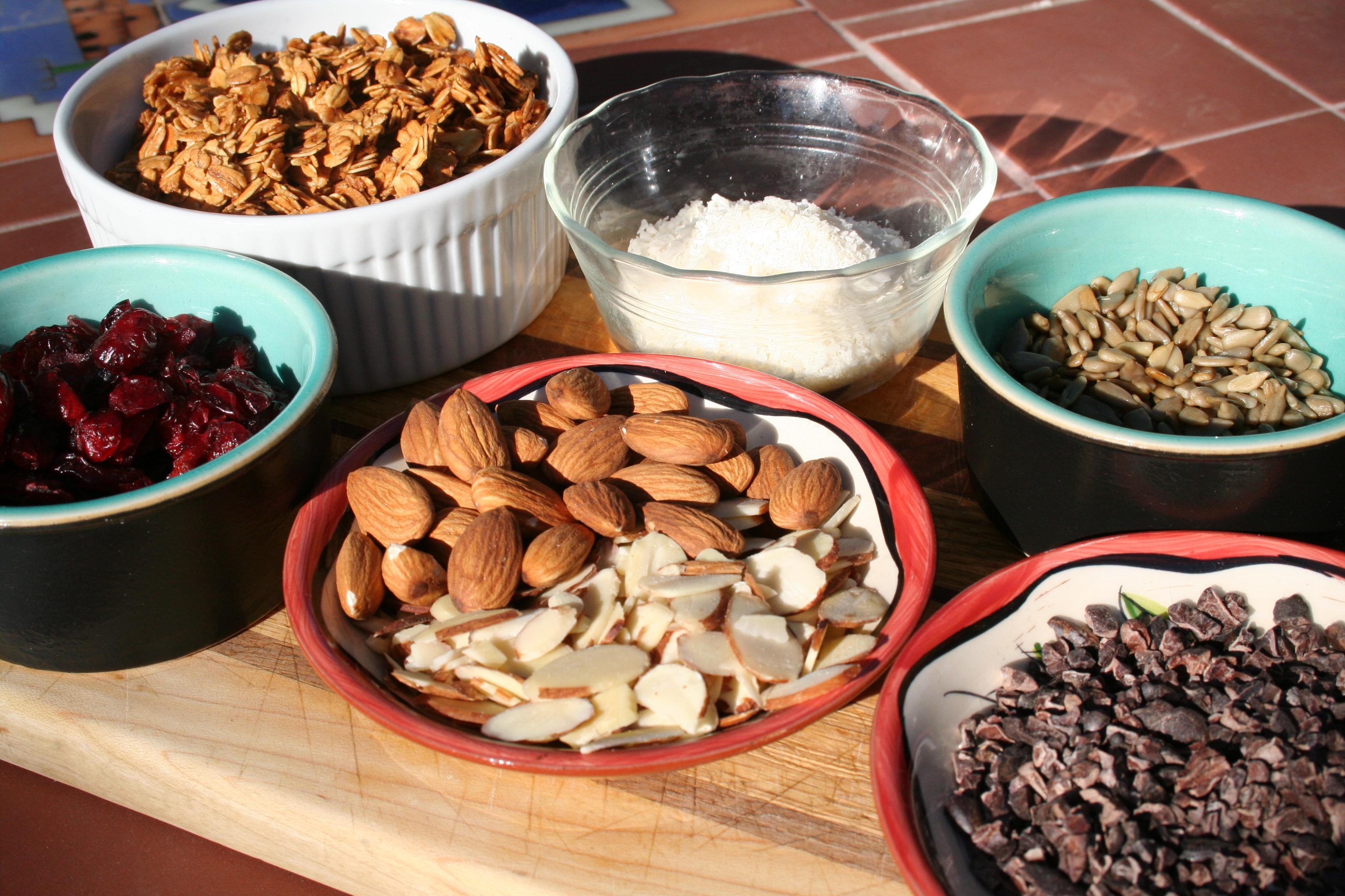 Trail Mix with Vanilla Almond Granola ingredients.