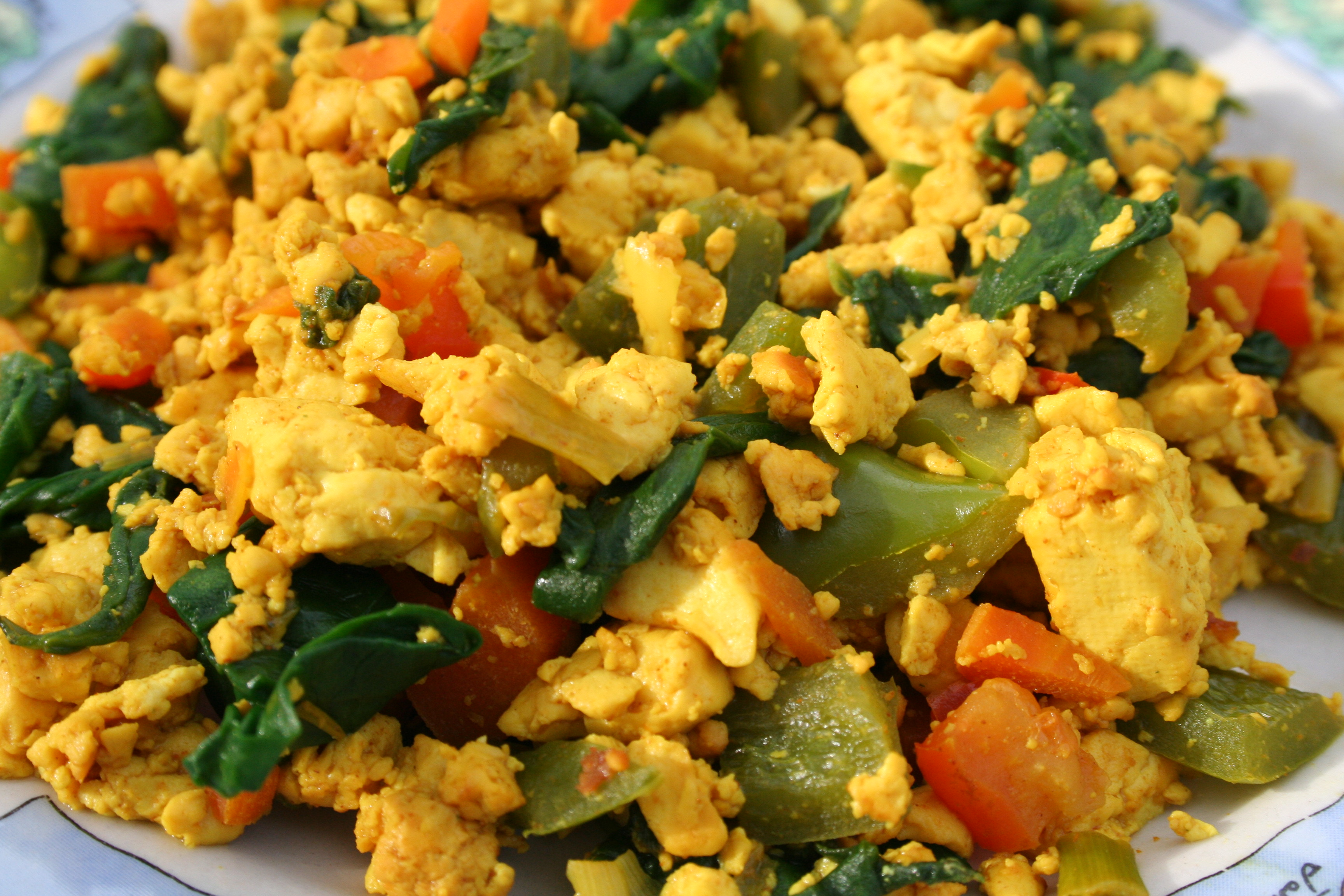 Tofu Scramble close up.