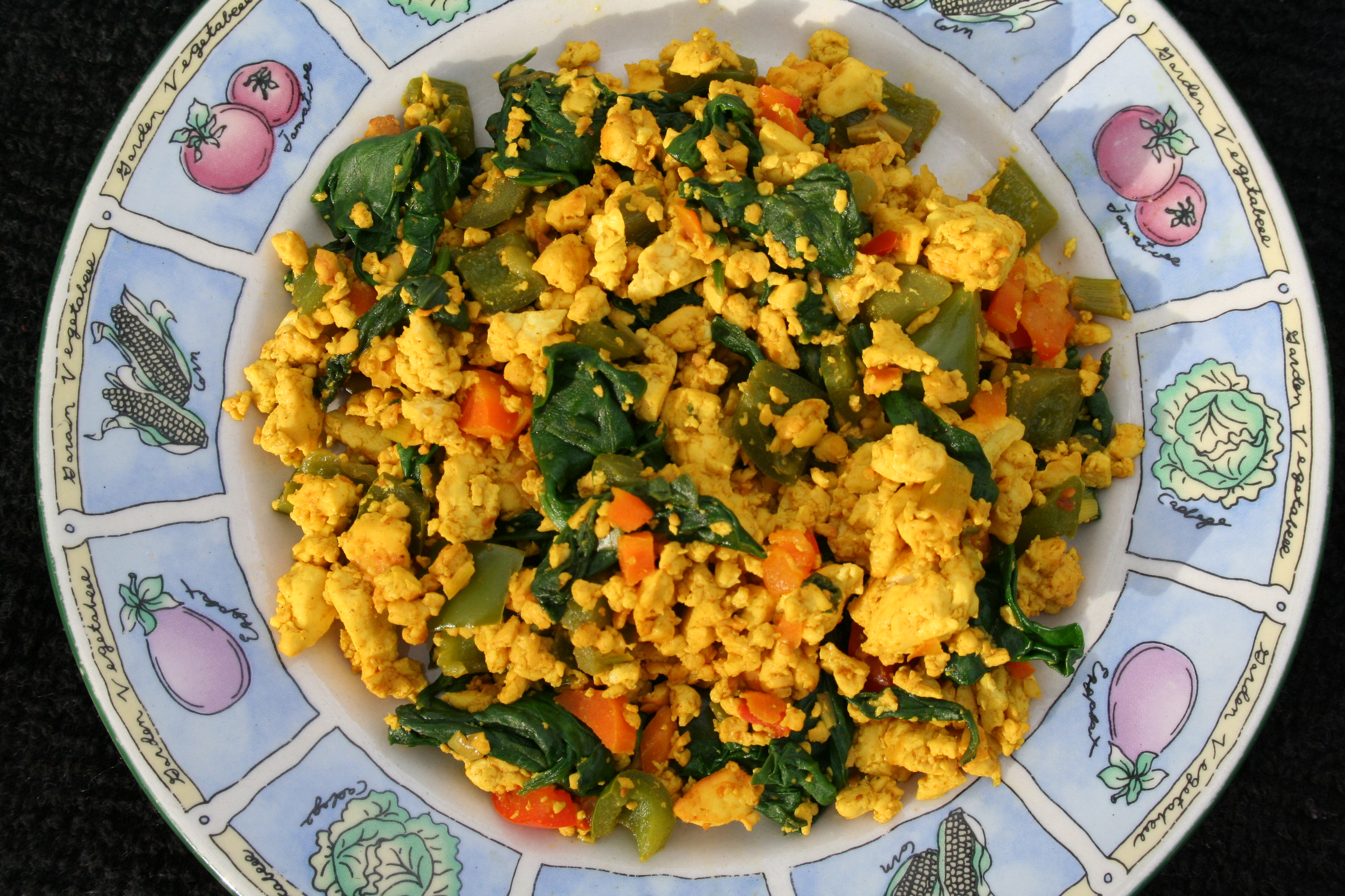 Tofu Scramble birds eye view.