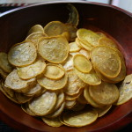 Salt and vinegar squash chips