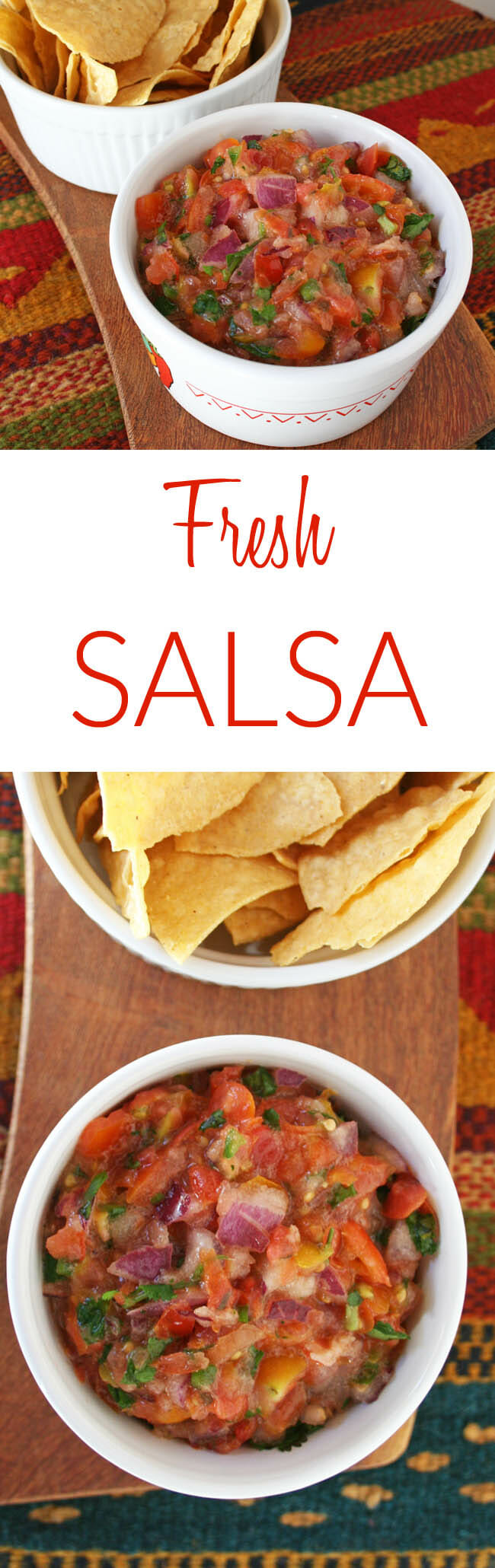 Serrano Pepper Salsa collage photo with and text