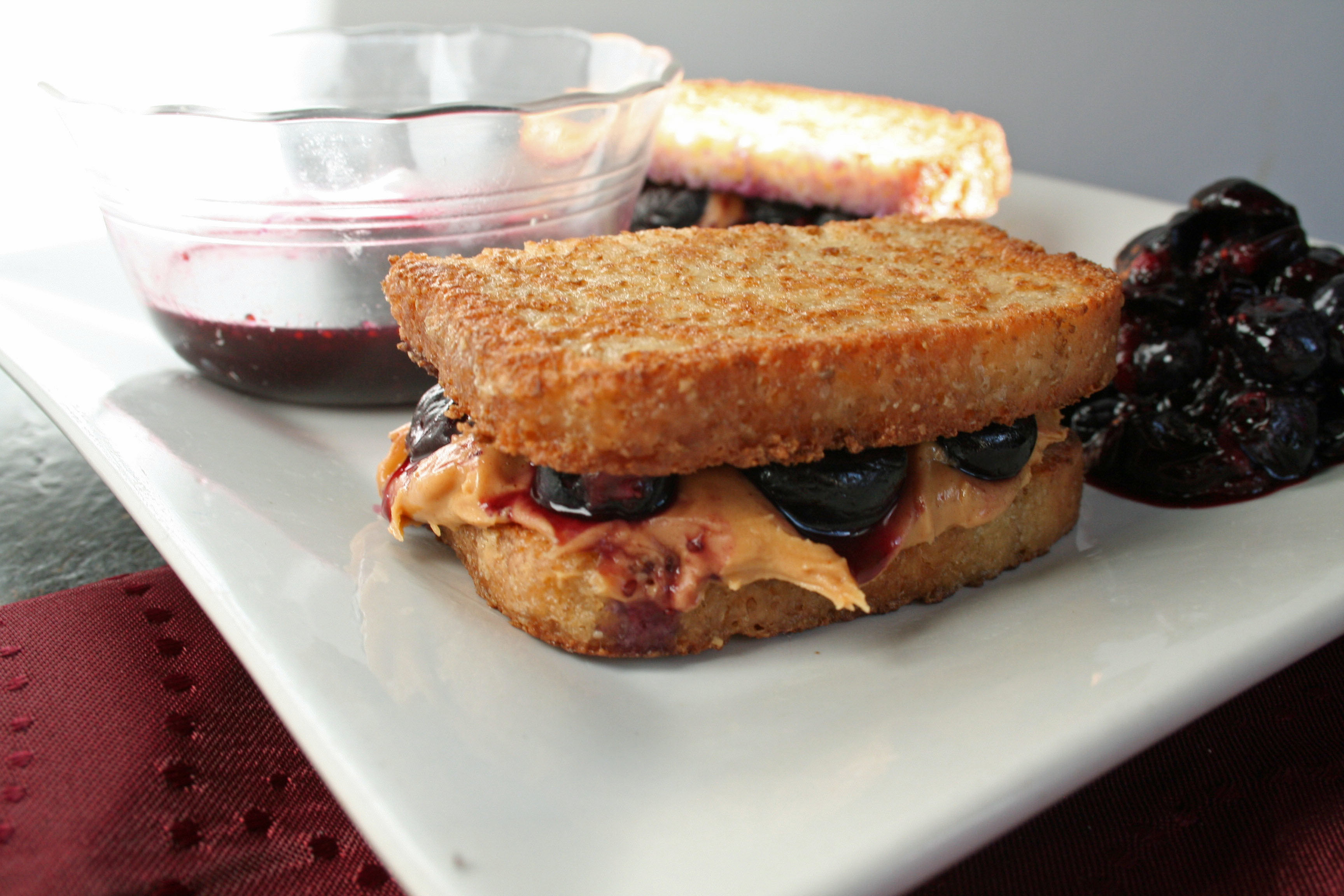 Peanut Butter and Blueberry French Toast