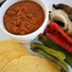Portobello and Pepper Fajitas with Salsa