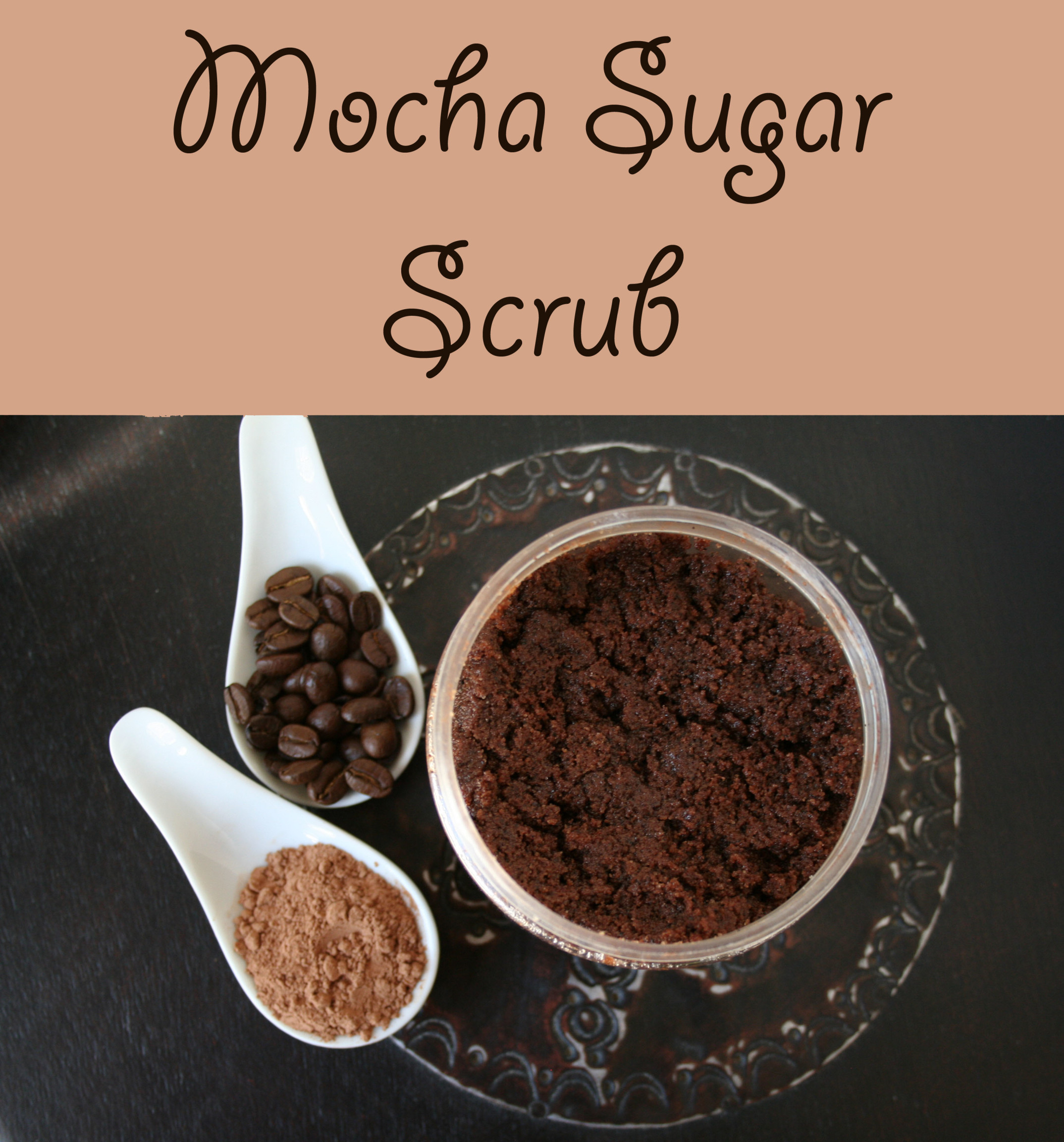 Mocha Sugar Scrub photo with text.