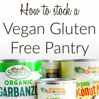 How to stock a vegan gluten free pantry
