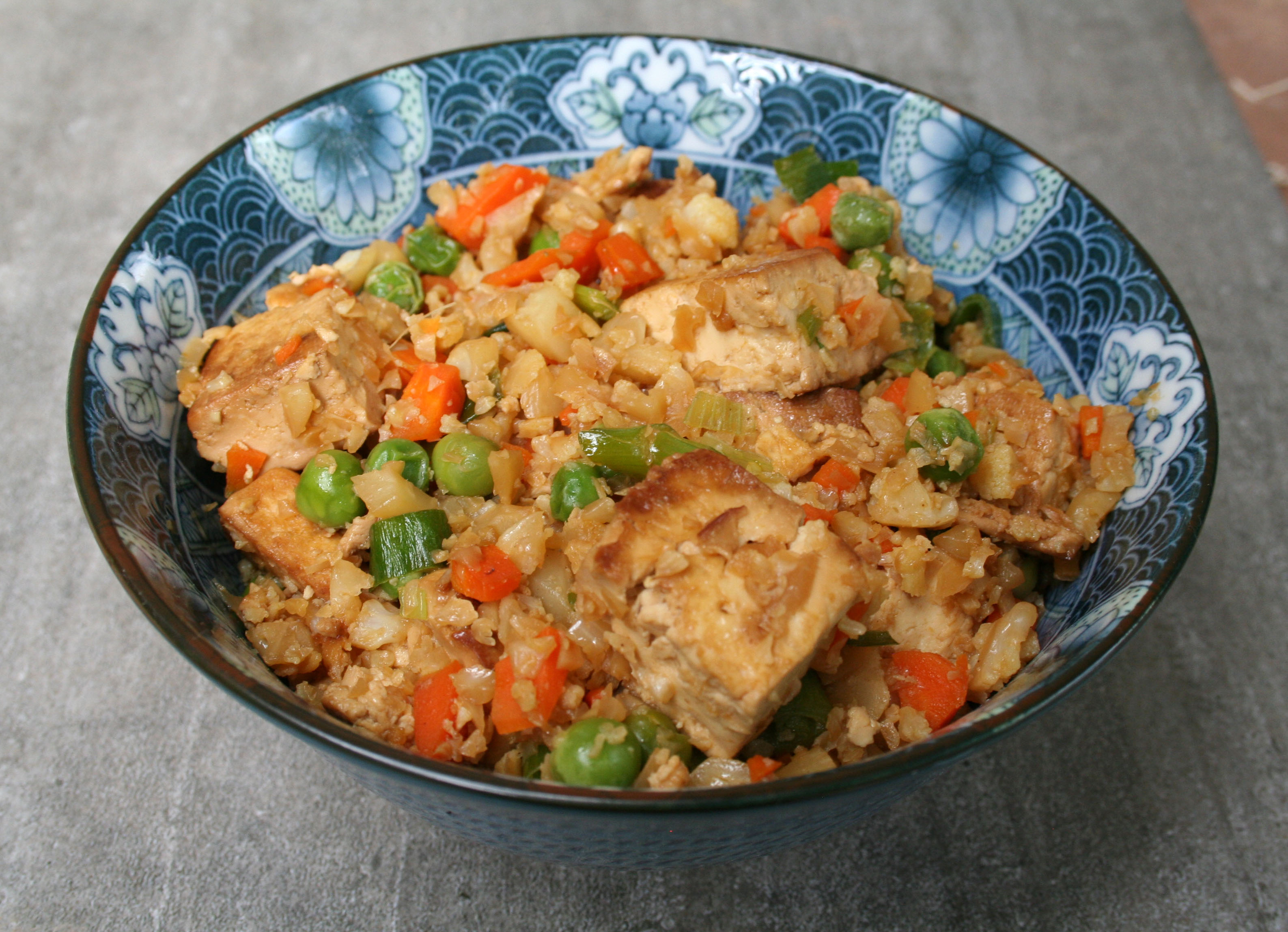 Fried Cauliflower Rice with Tofu