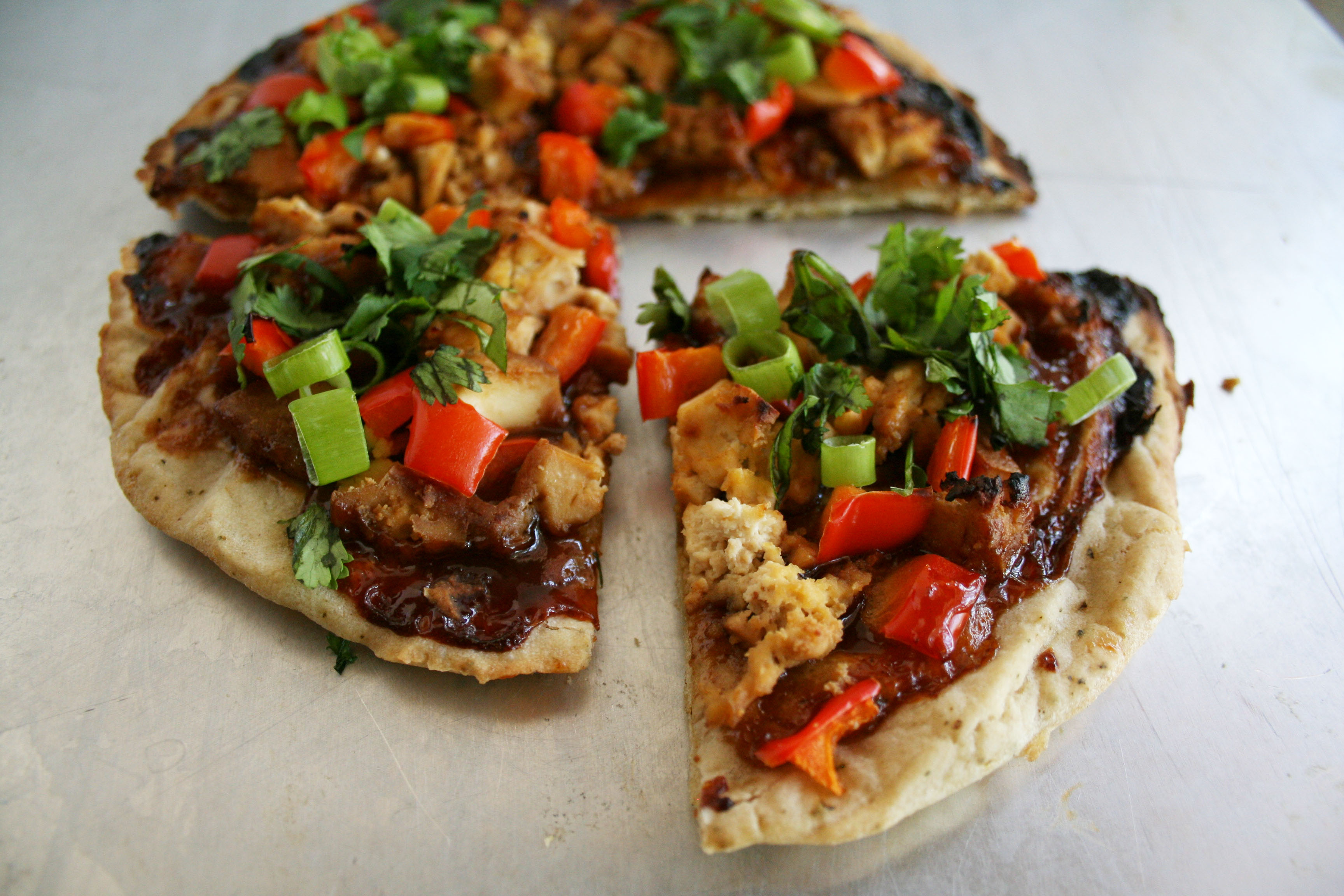 Chinese Pizza with Ginger Garlic Tofu