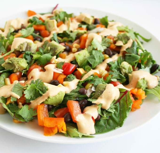 Southwestern Black Bean Salad with Chipotle Dressing