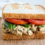 Sun-Dried Tomato and Basil Chickpea Salad Sandwich