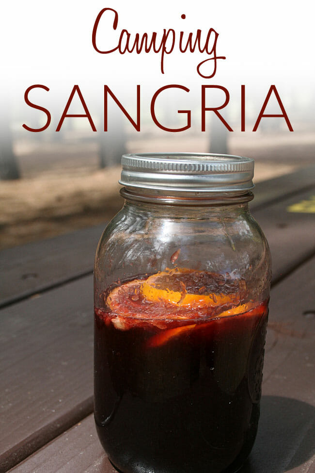 Camping Sangria photo with text.