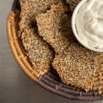 Everything Bagel Flax Crackers