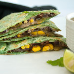 Black Bean and Corn Vegan Quesadilla