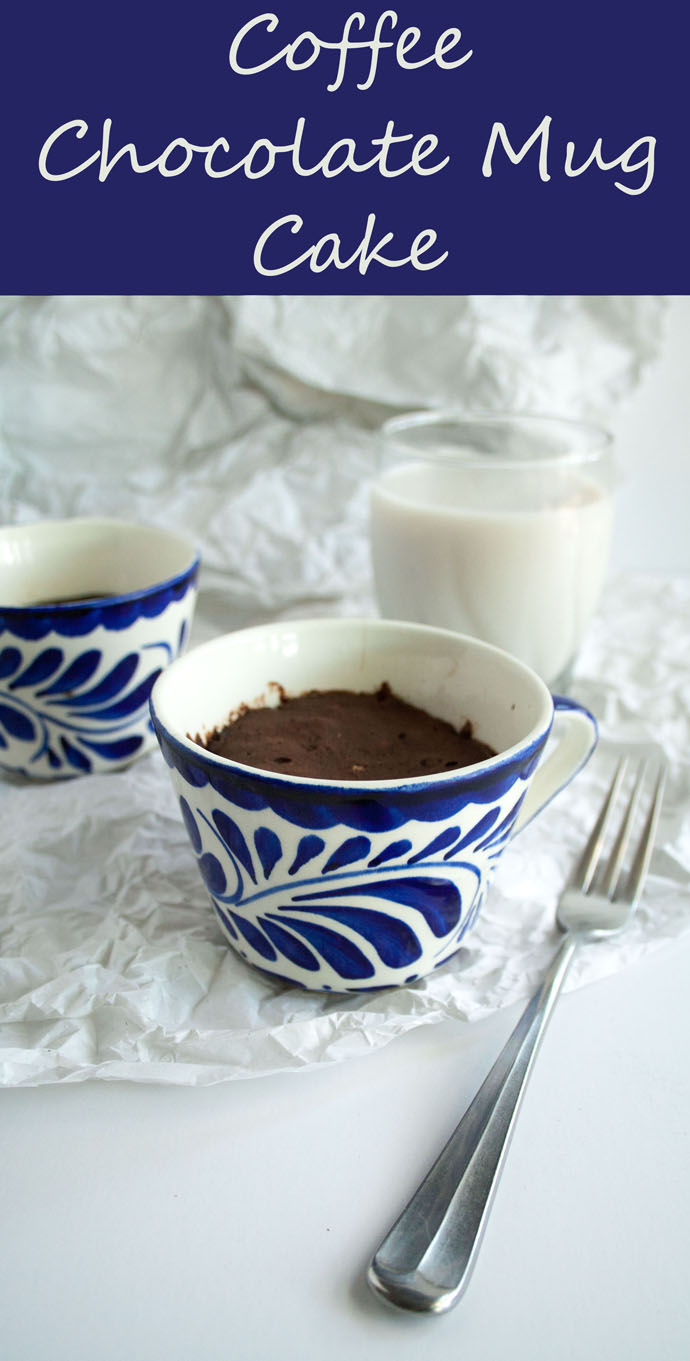 Chocolate Coffee Mug Cake photo with text.