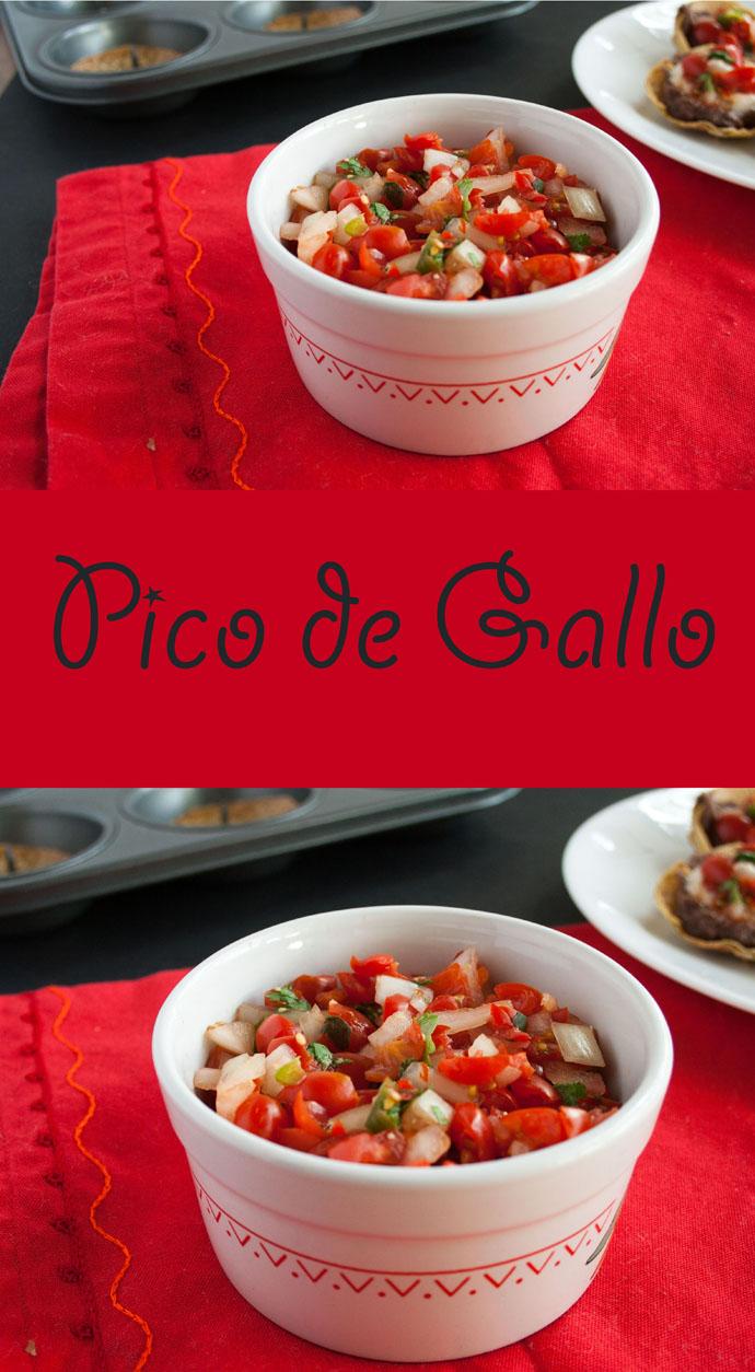Pico de Gallo collage photo with text.