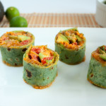 Thai Pinwheels with Peanut Sauce