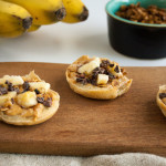 Mini Peanut Butter Banana Breakfast Pizzas