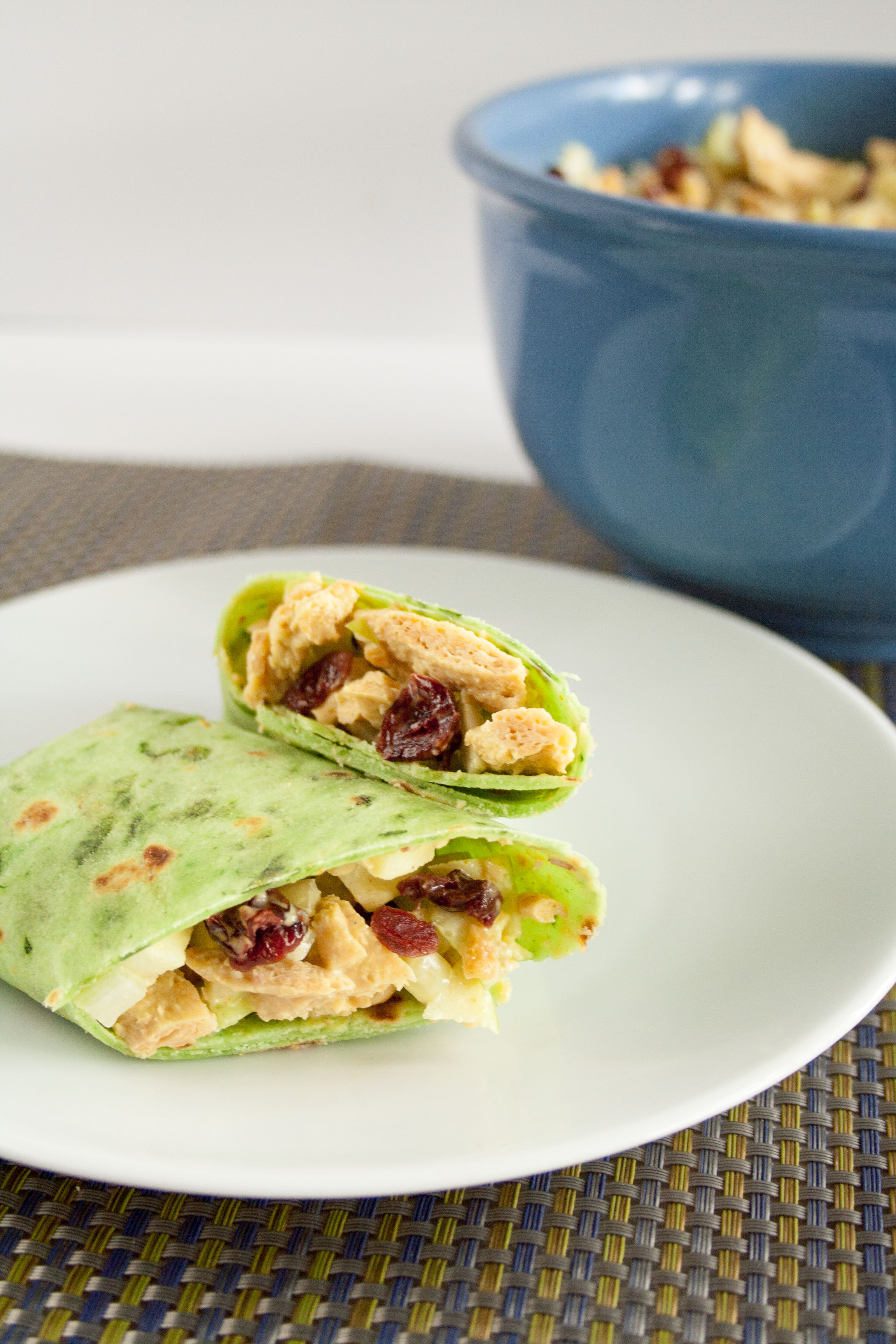 Vegan Curry Salad in wraps.