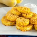 Fried Squash with a Crispy Cornmeal Batter