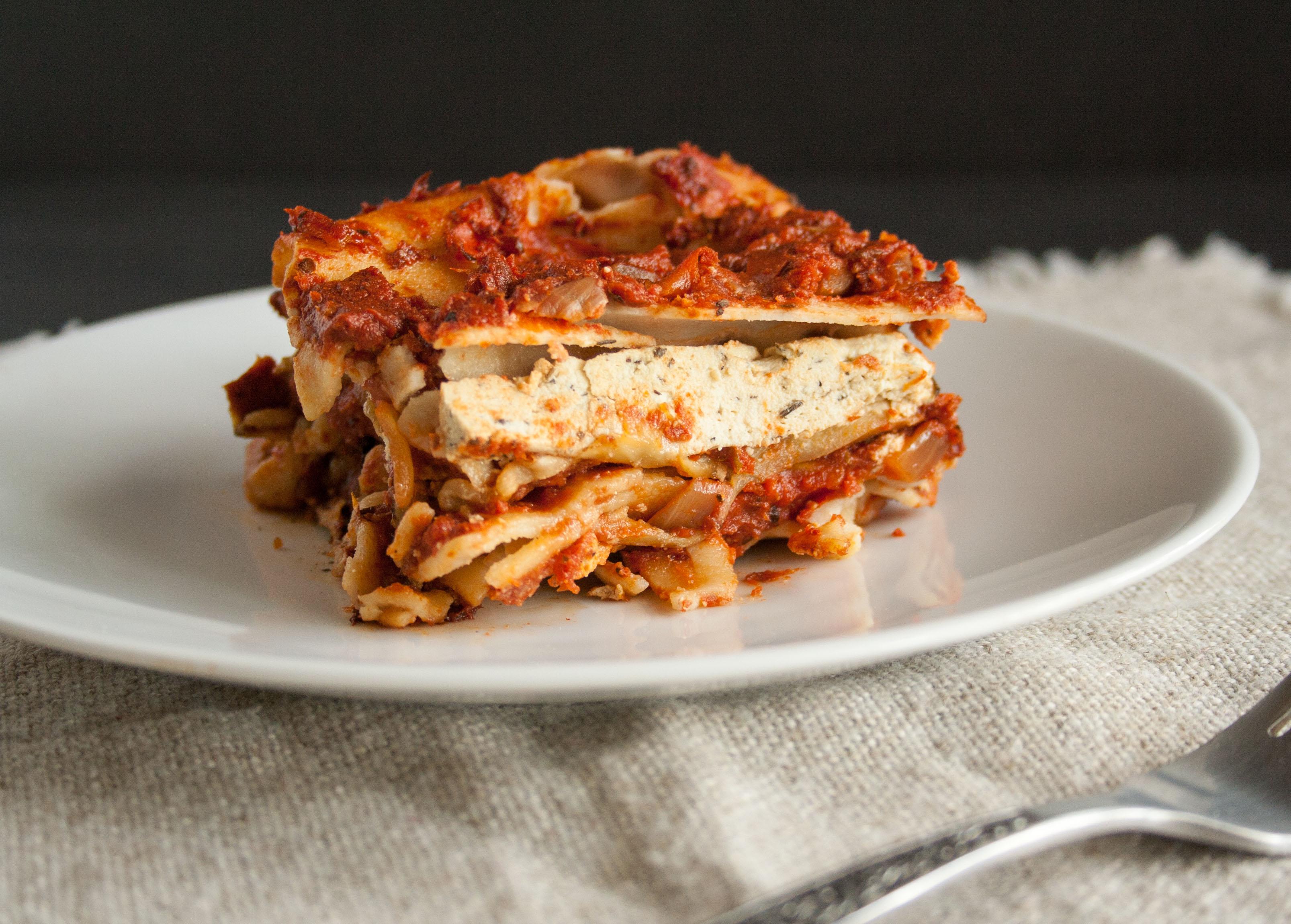 Eggplant Lasagna on a plate.