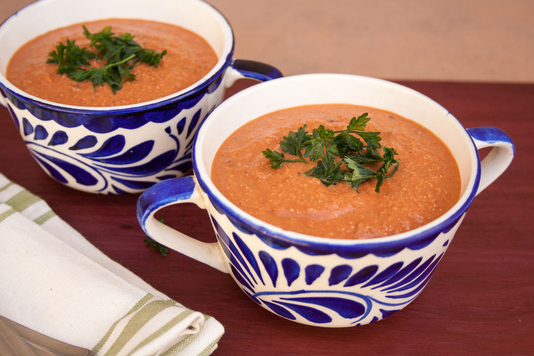 Creamy Tomato Soup with Balsamic Vinegar