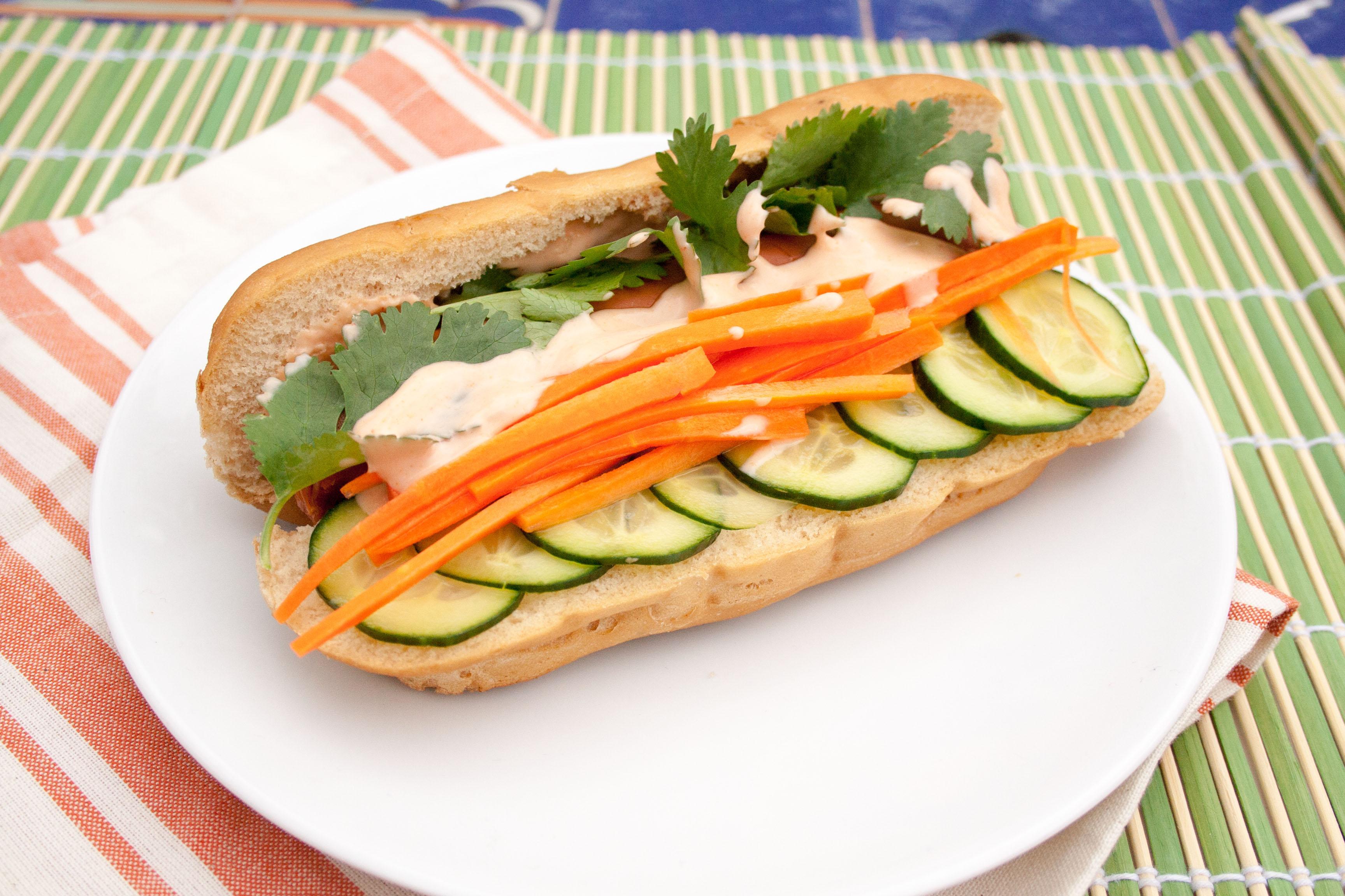 Vegan Banh Mi Hot Dog - Create Mindfully