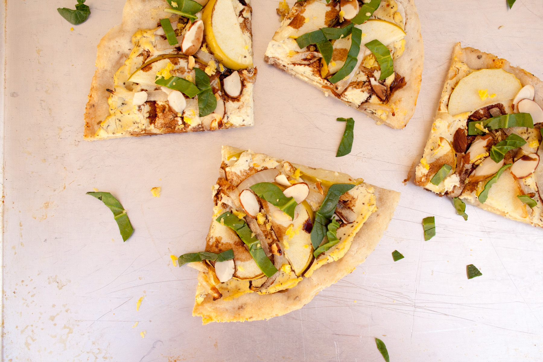 Apple and Tofu Ricotta Pizza