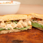 Chickpea Salad Sandwich with Vegan Tzatziki