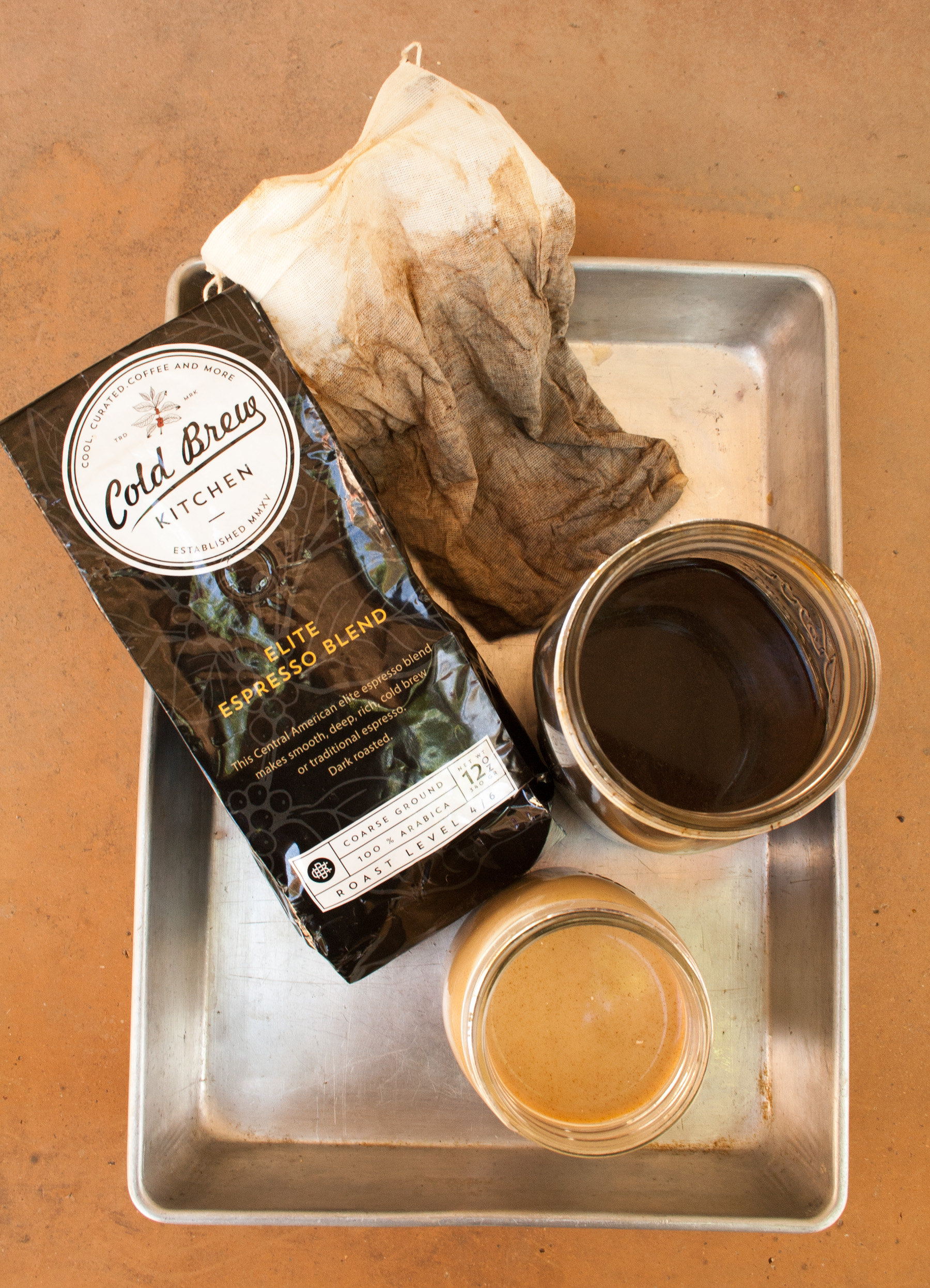 Cold Brewed Coffee Recipe and Review - ingredients and coffee that;s been cold brewed