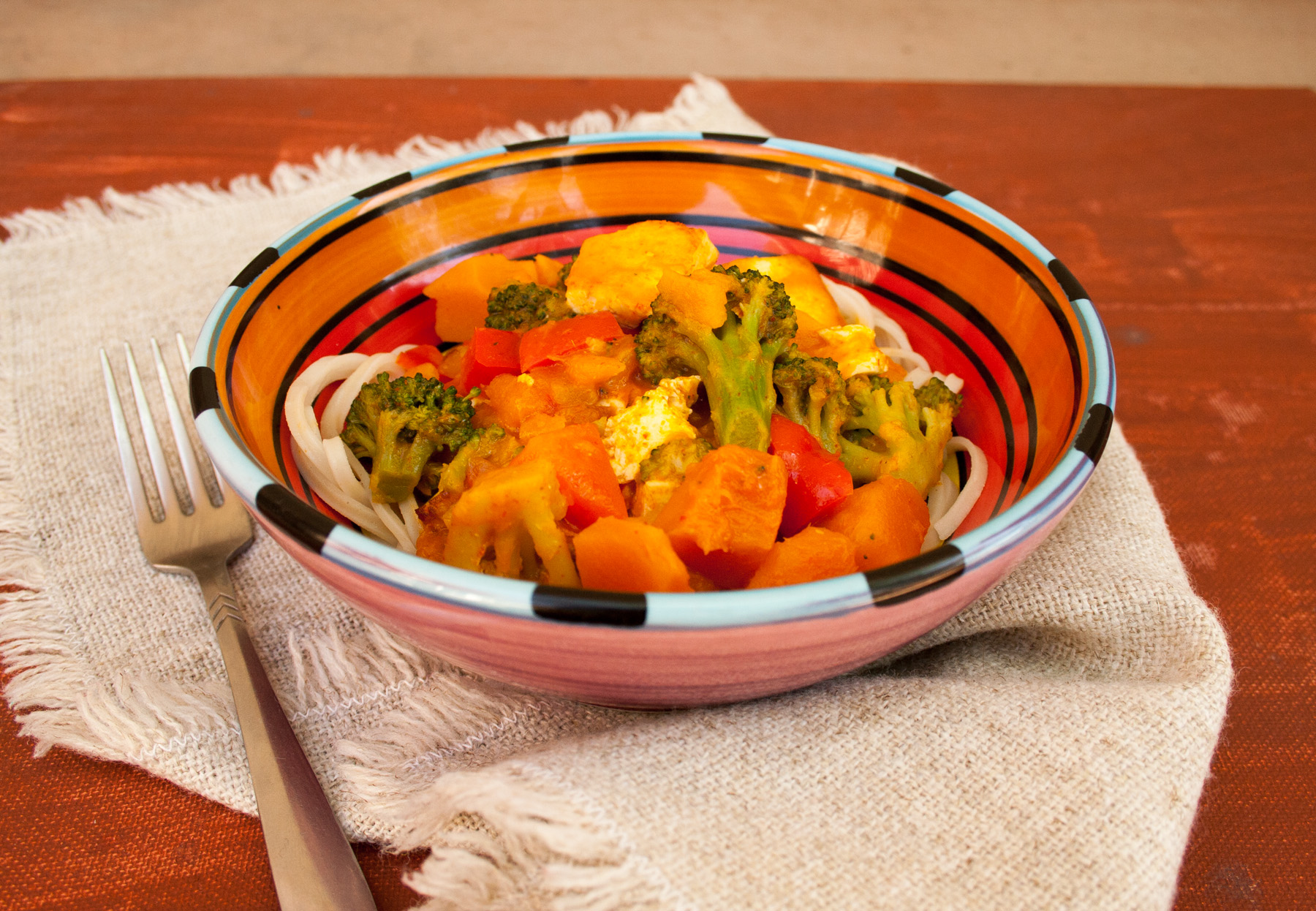 Thai Red Curry with Tofu and Kabocha Squash - Create Mindfully