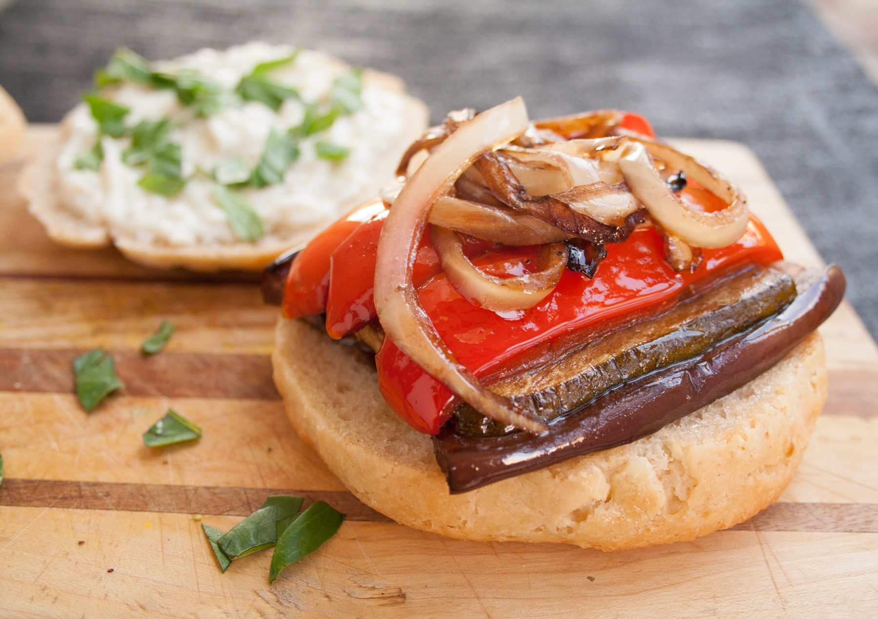 Balsamic Roasted Vegetable Sandwich