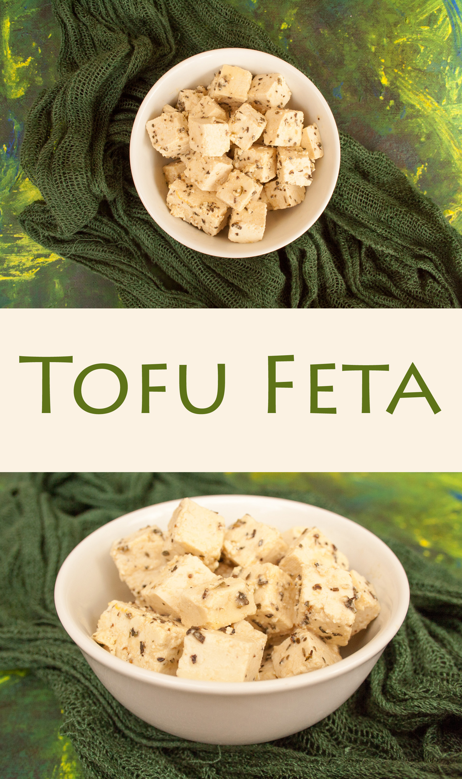 """Tofu Feta - This vegan feta will have you wondering why you ever wanted the dairy version! It is marinated in herbs and vinegar to give it a wonderful tangy, """"cheesy"""" flavor."""