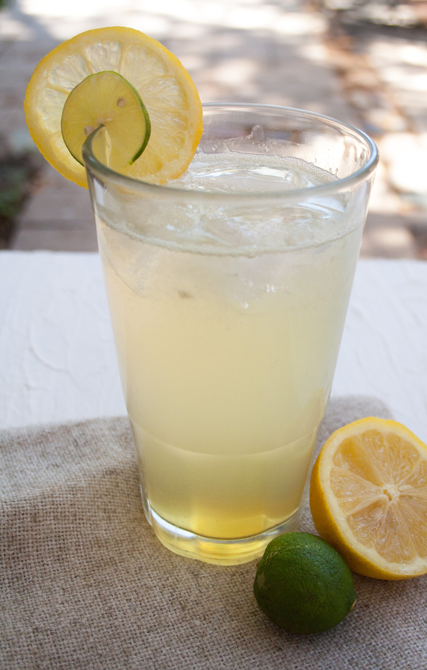 Lemon Lime Soda close up.