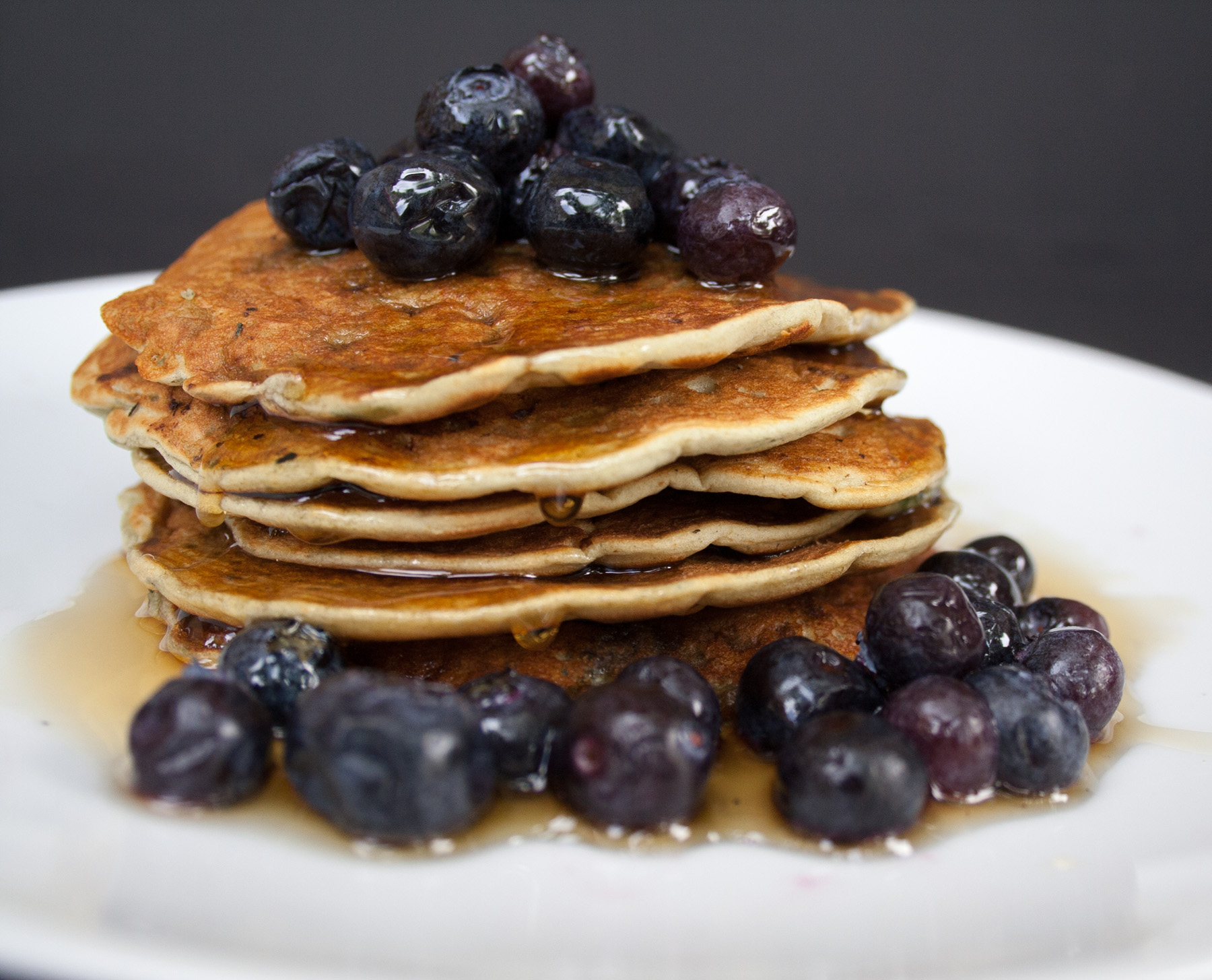 Vegan Gluten Free Blueberry Pancakes - Create Mindfully