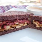 Vegan Teriyaki Reuben with Spicy Thousand Island Dressing