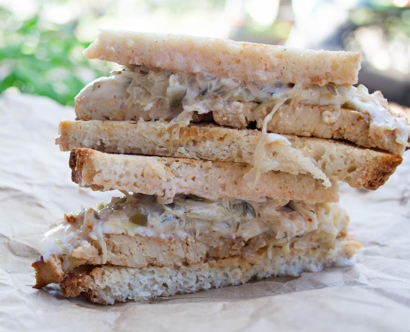 Vegan Reuben Sandwich -
