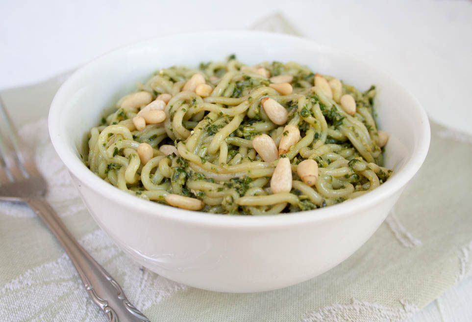 Vegan Pesto Shirataki Noodles