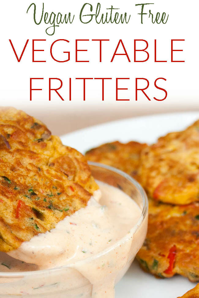 Vegetable Fritters photo with text.