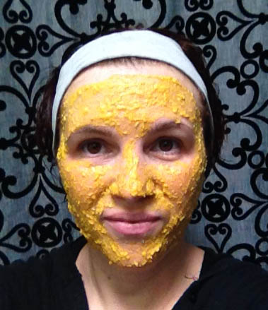 Pumpkin Spice Exfoliating Face Mask on me.
