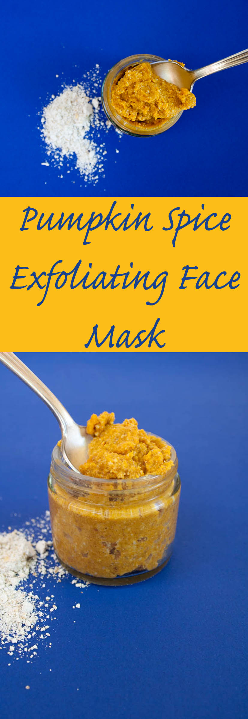 Pumpkin Spice Exfoliating Face Mask collage photo with text.