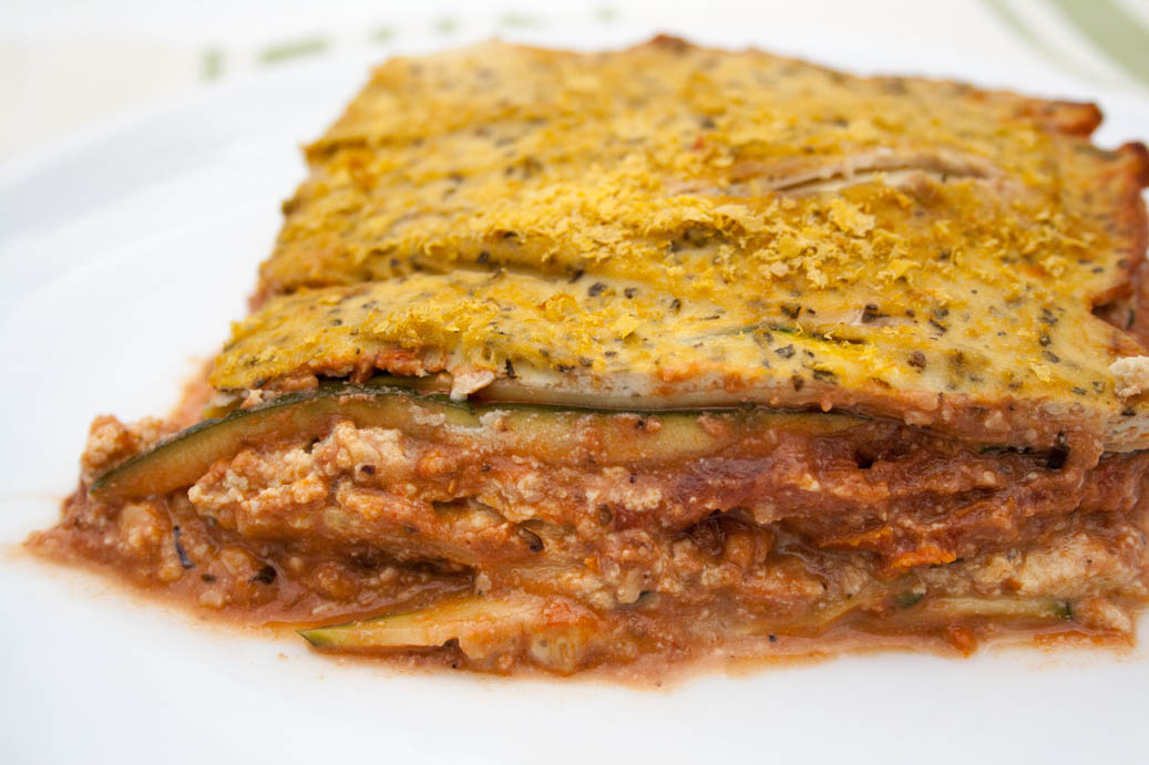 Vegan Zucchini Lasagna with Tofu Ricotta and Walnut Sauce