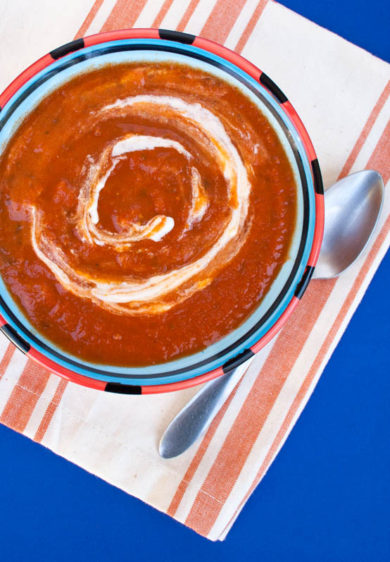 5 Ingredient Sun-dried Tomato Soup birds eye view.