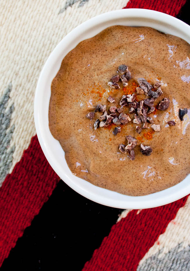 Mexican Chocolate Chia Pudding birds eye view