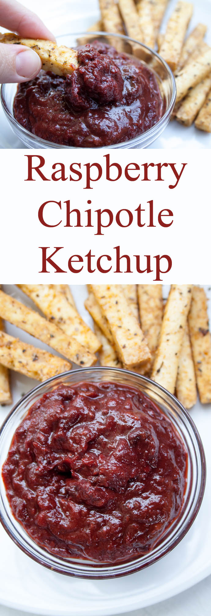 Raspberry Chipotle Ketchup collage photo with text.