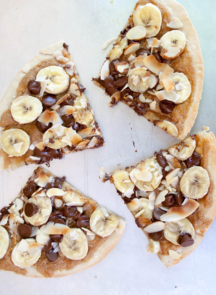 Chocolate Pizza birds eye.