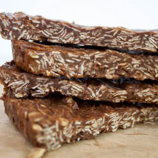 Vegan Chocolate Peanut Butter Granola Bars
