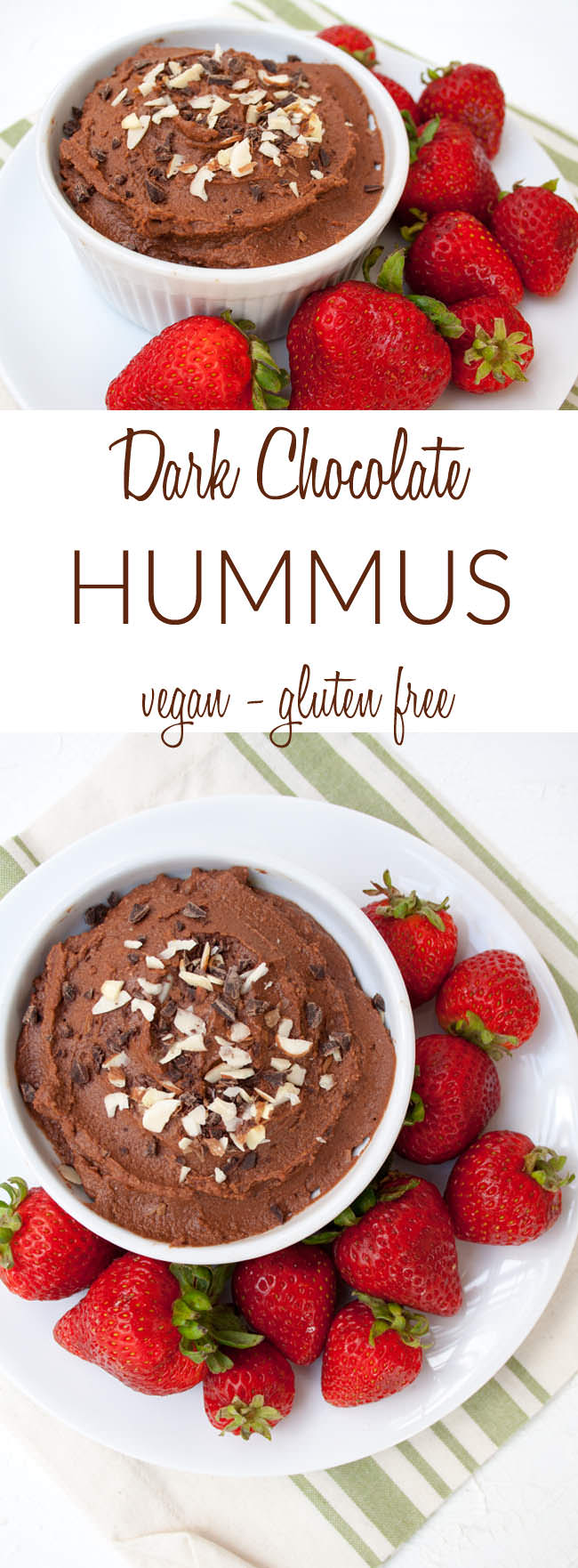 Dark Chocolate Hummus collage photo.