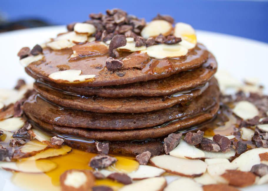 Chocolate Almond Pancakes