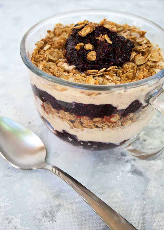 Peanut Butter and Jelly Yogurt Parfait